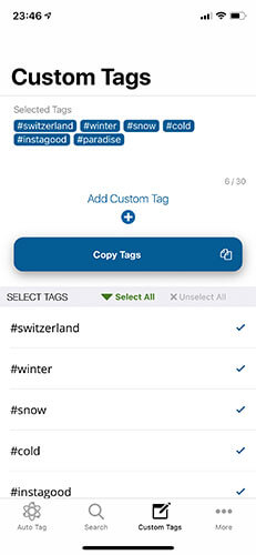 Auto Tags for Instagram